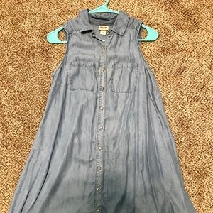 Mossimo Light Blue Denim Button Up Dress